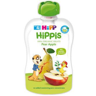 HiPP БИО Забавна плодова закуска Круша и ябълка 4м. 100г
